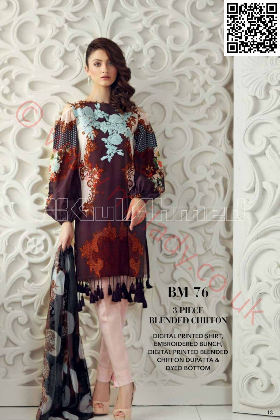 Gul Ahmed Pre-Fall Cambric 2018 suit BM-76