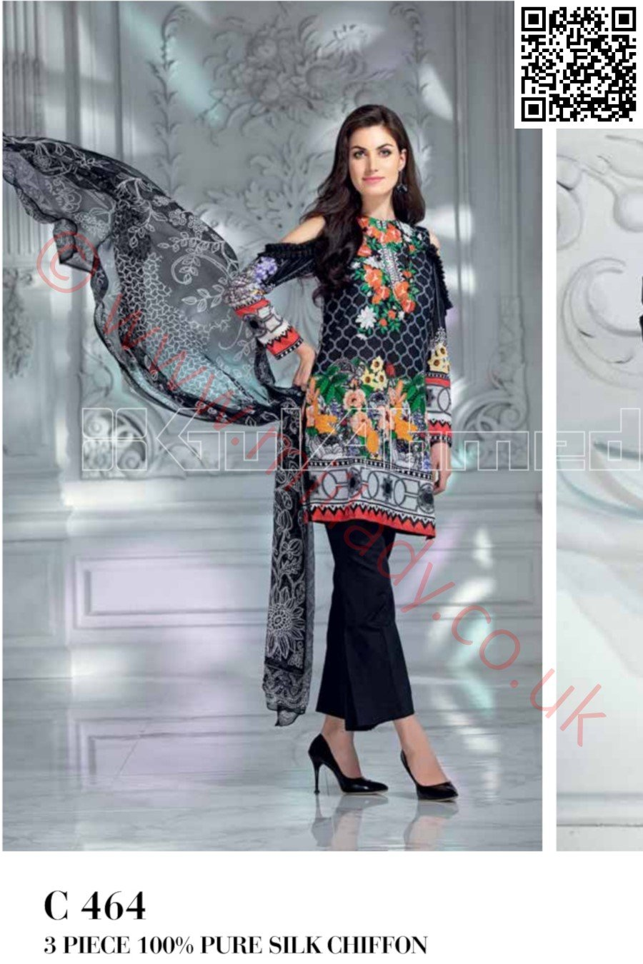 Gul Ahmed Pre-Fall Cambric suit C-464