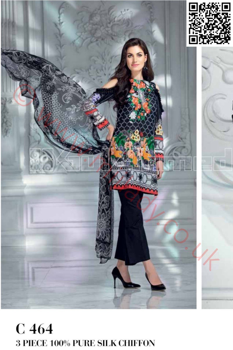 Gul Ahmed Pre-Fall Cambric 2018 suit C-464