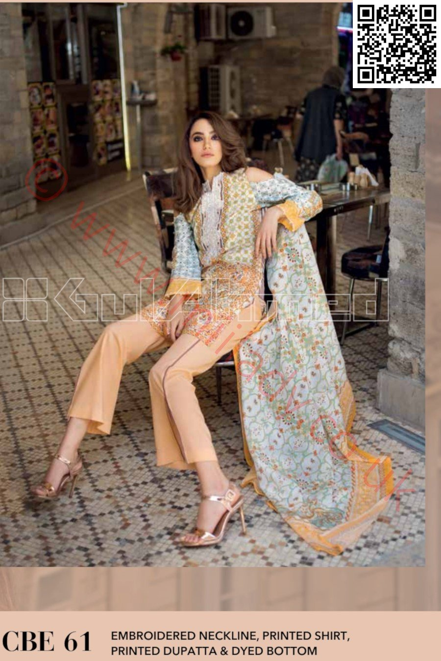 Gul Ahmed Pre-Fall Cambric 2018 suit CBE-61