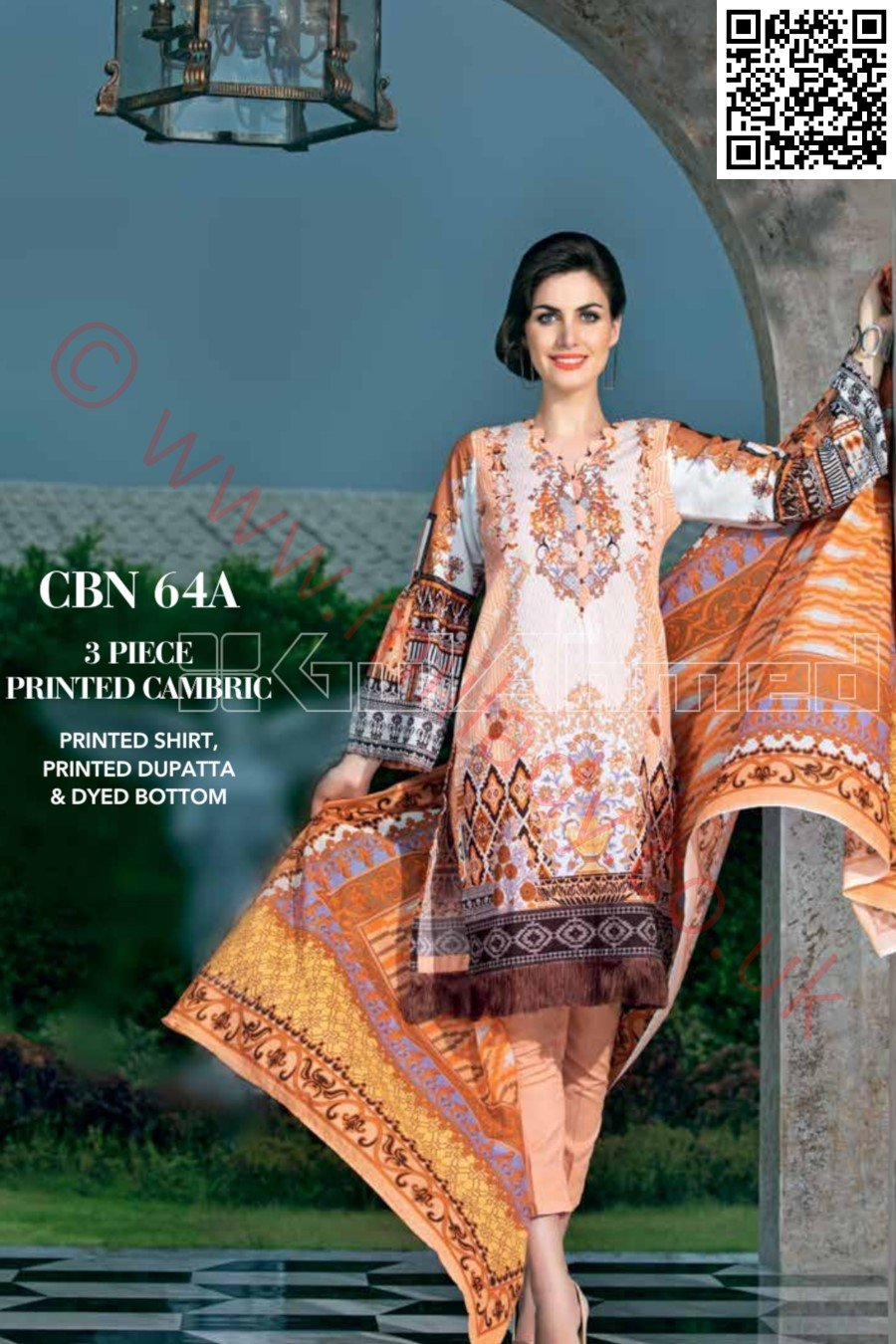 Gul Ahmed Pre-Fall Cambric 2018 suit CBN-64A