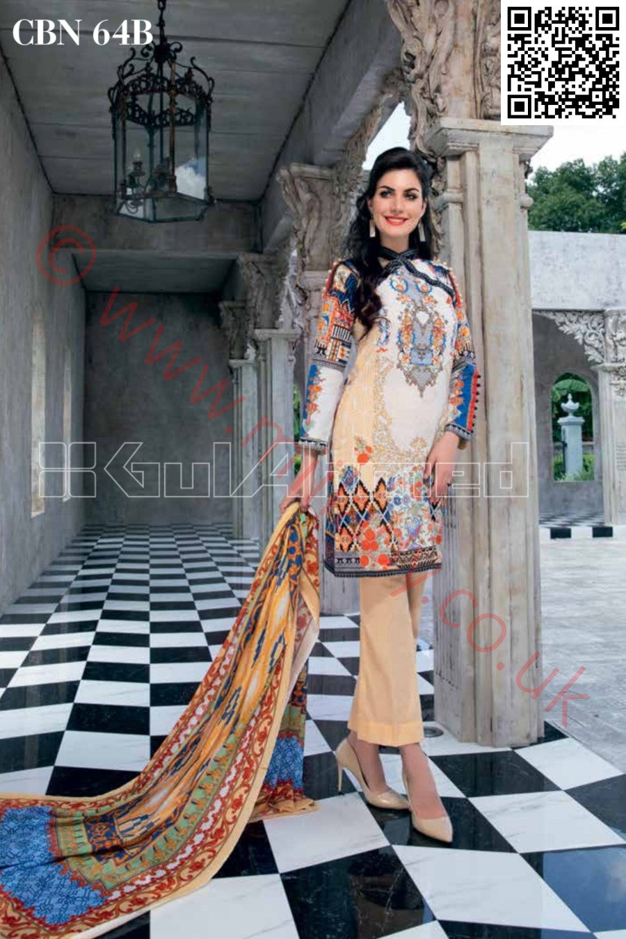 Gul Ahmed Pre-Fall Cambric 2018 suit CBN-64B