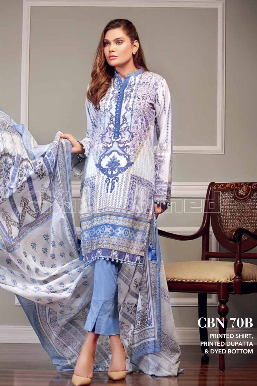 Gul Ahmed Pre-Fall Cambric 2018 suit CBN-70B
