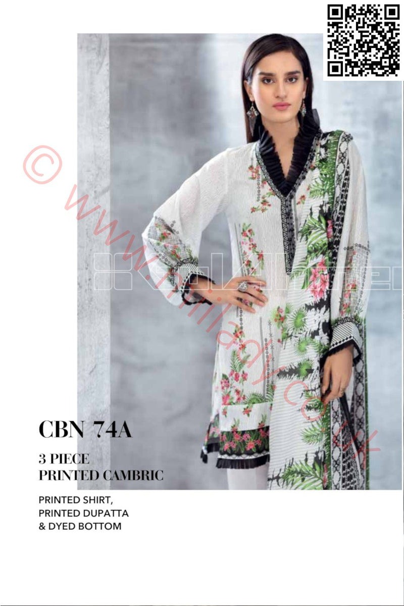 Gul Ahmed Pre-Fall Cambric 2018 suit CBN-74A - Printed Salwar Kameez