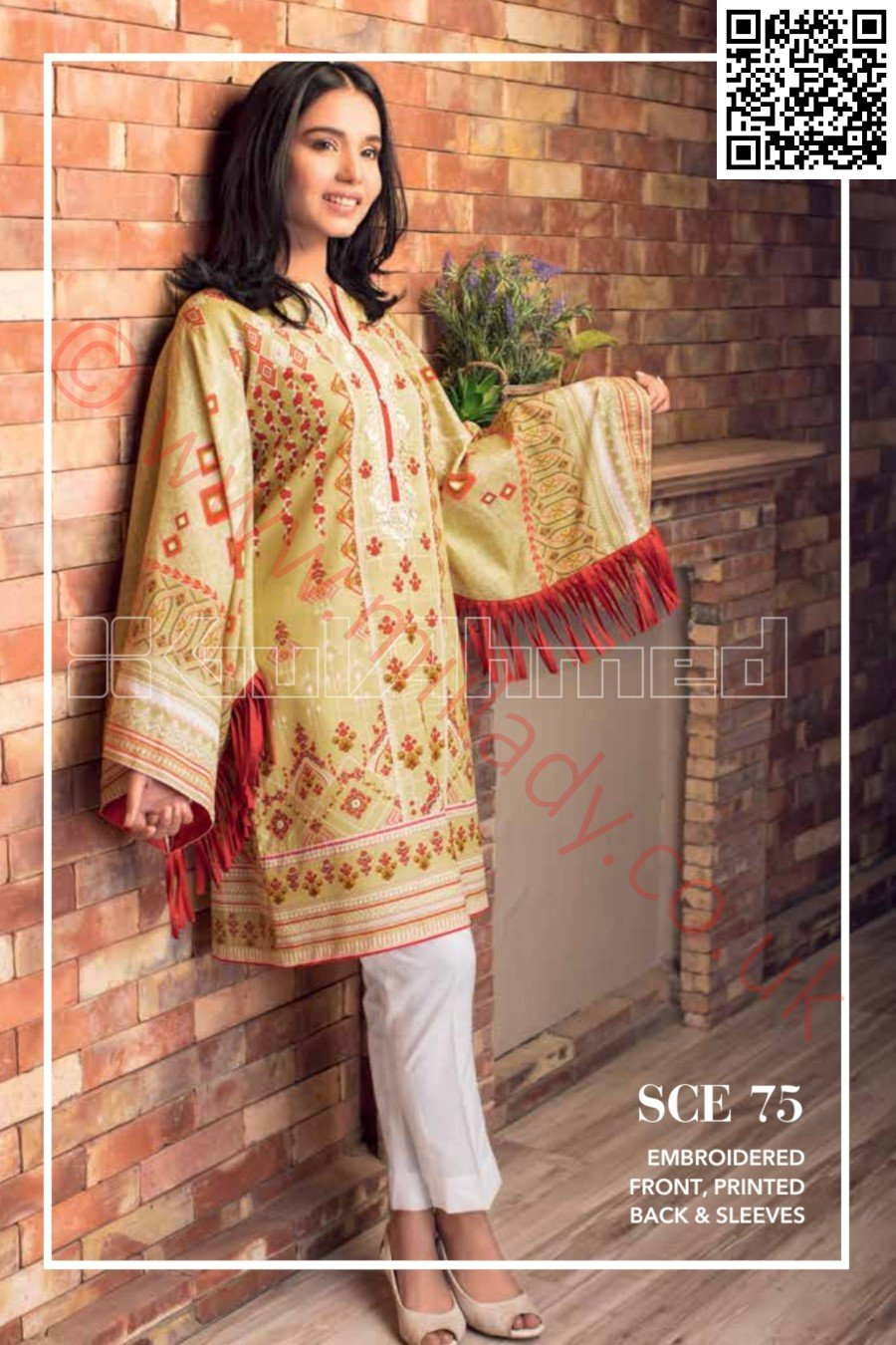 Gul Ahmed Pre-Fall Cambric 2015 suit SCE-75