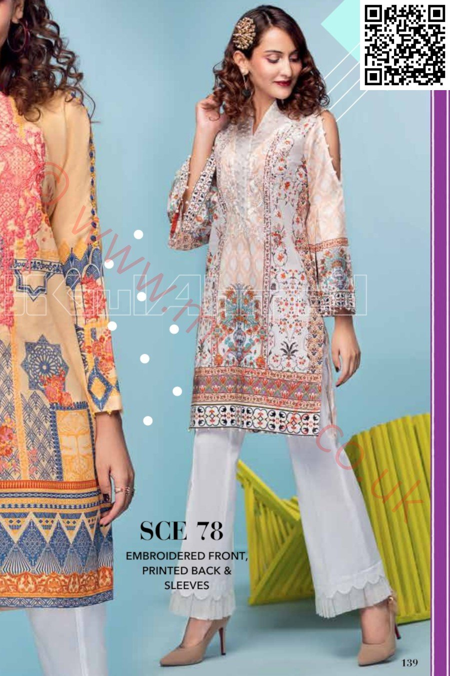Gul Ahmed Pre-Fall Cambric 2018 suit SCE-78