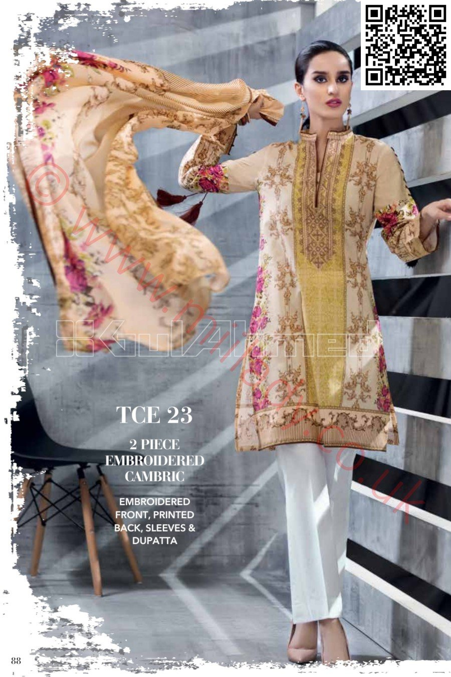 Gul Ahmed Pre-Fall Cambric 2018 suit TCE-23