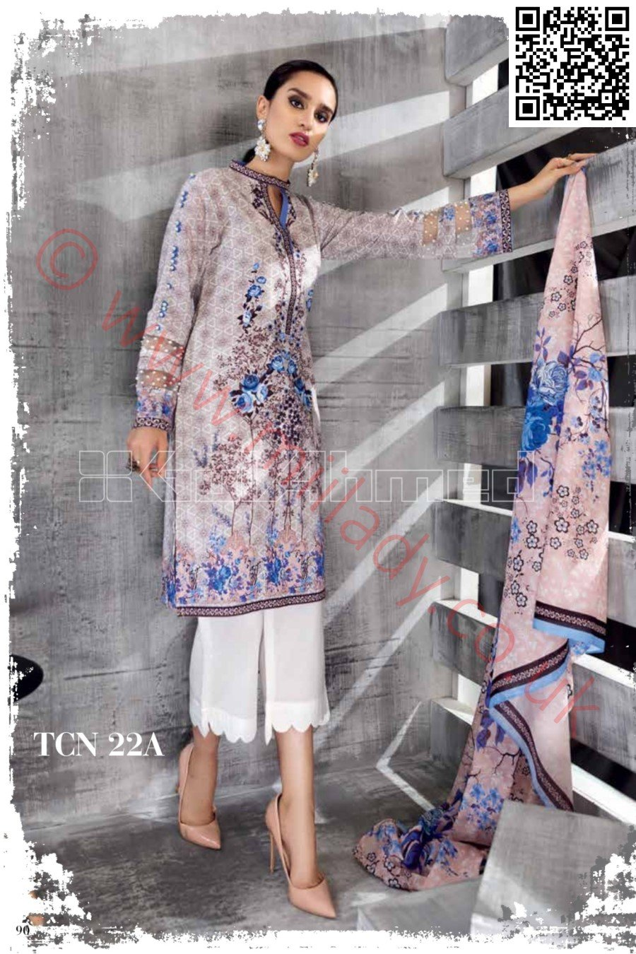 Gul Ahmed Pre-Fall Cambric 2018 suit TCN-22A