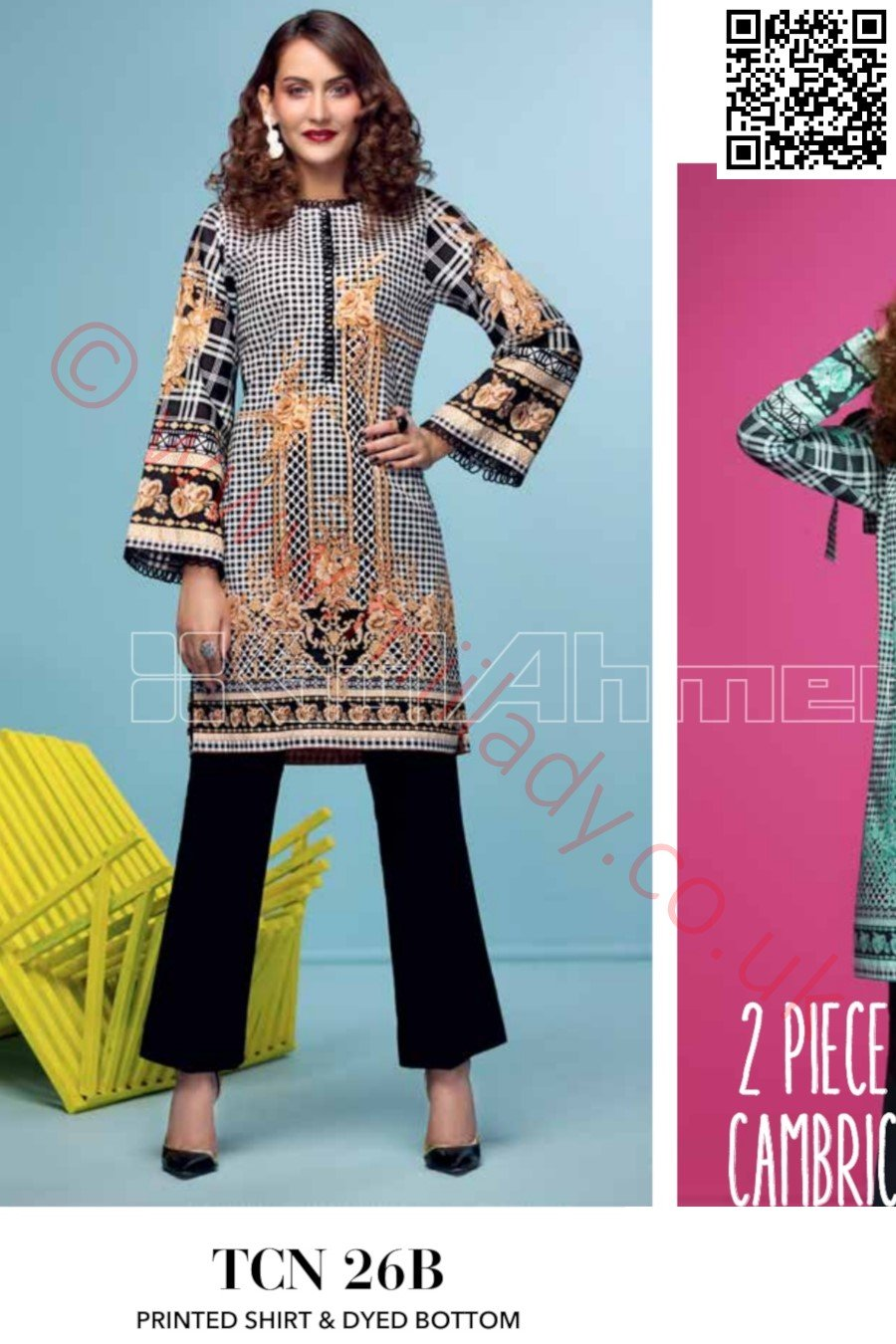Gul Ahmed Pre-Fall Cambric 2018 suit TCN-26B