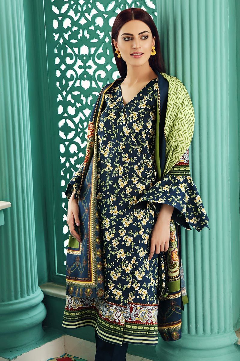 Gul Ahmed Winter Collection 2020 suit LT-18