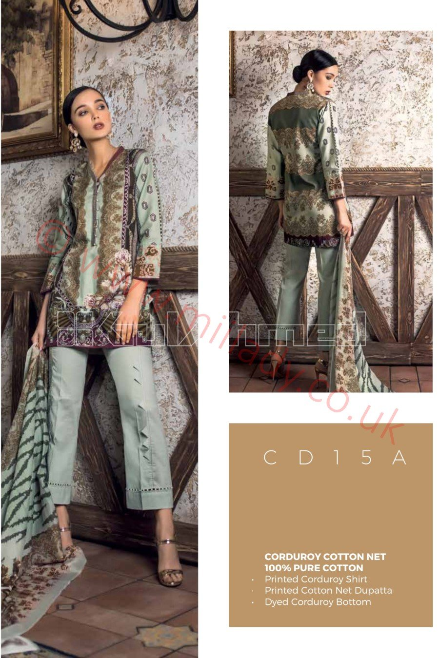 Gul Ahmed Winter 2018 Suit CD15-A