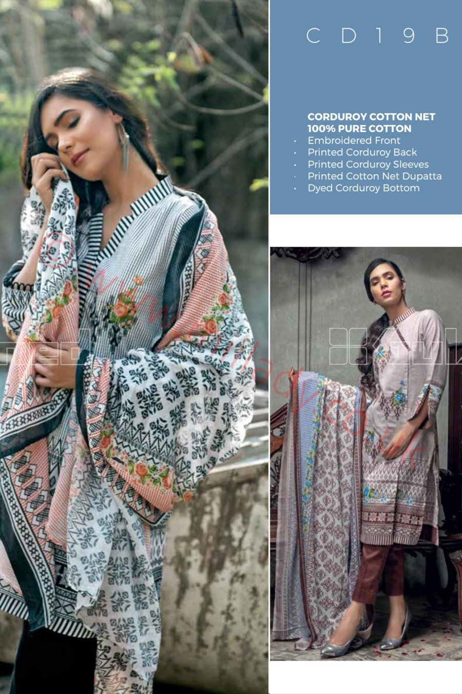 Gul Ahmed Winter 2018 Suit CD19-B
