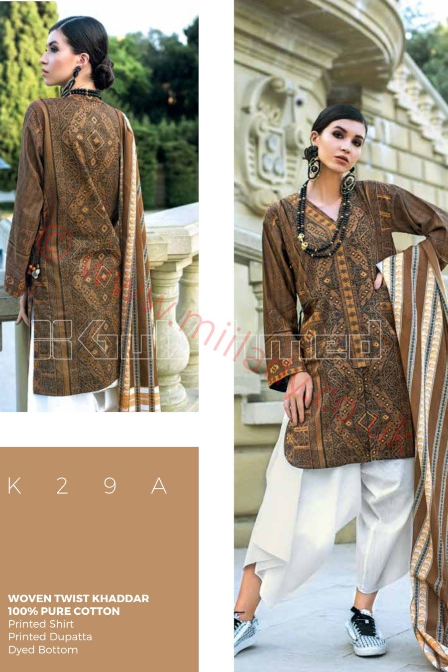 Gul Ahmed Winter 2018 Suit K29-A