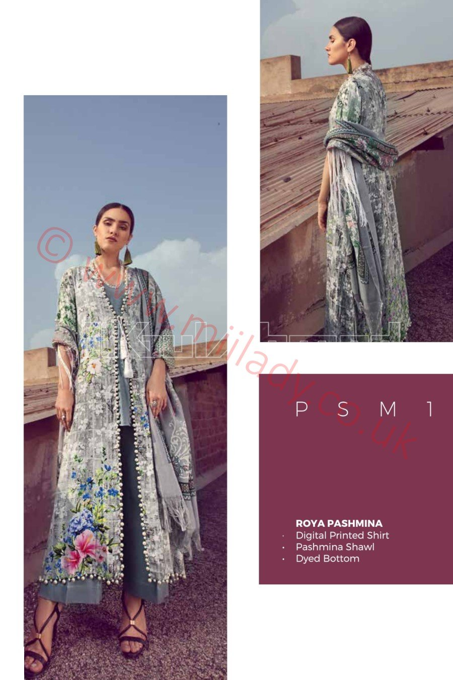 Gul Ahmed Winter 2018 Suit PSM1 - Digital Printed Pashmina Kameez and shawl