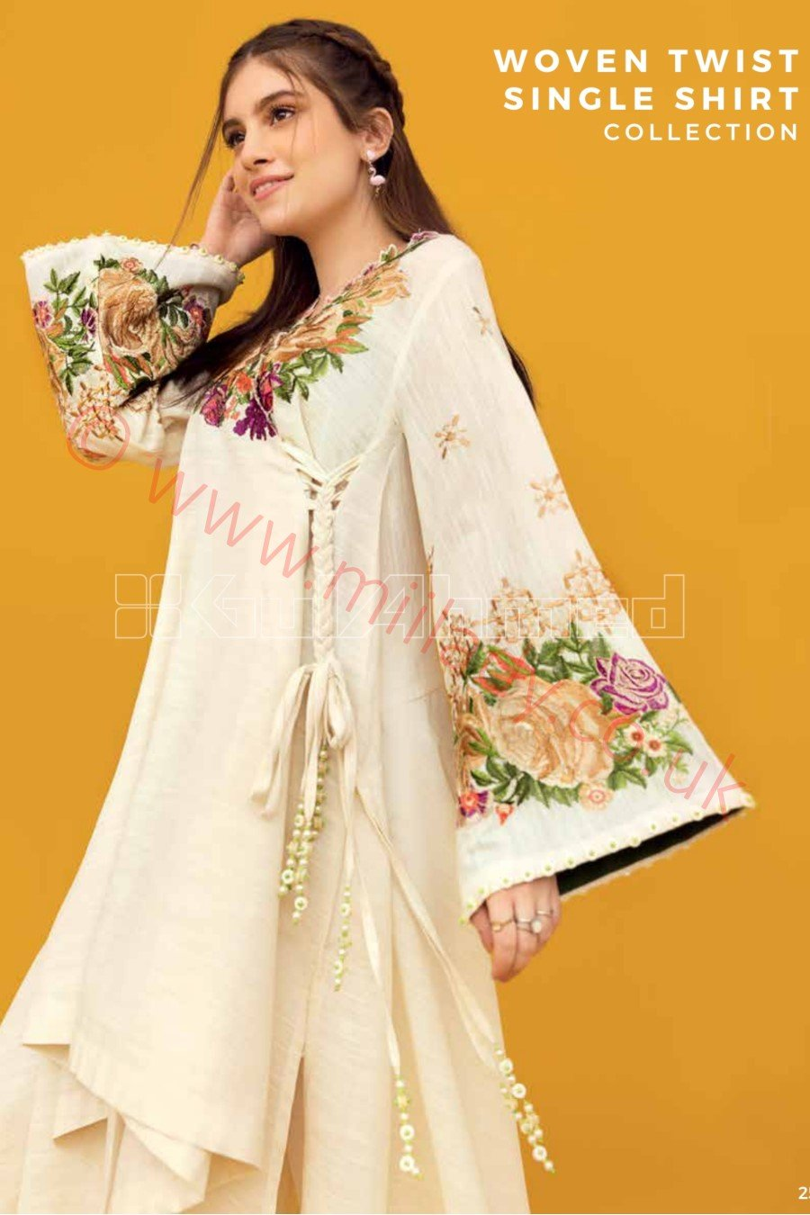 Gul Ahmed Winter  2018 Suit SK52 - Embroidered Khaddar Single Shirt