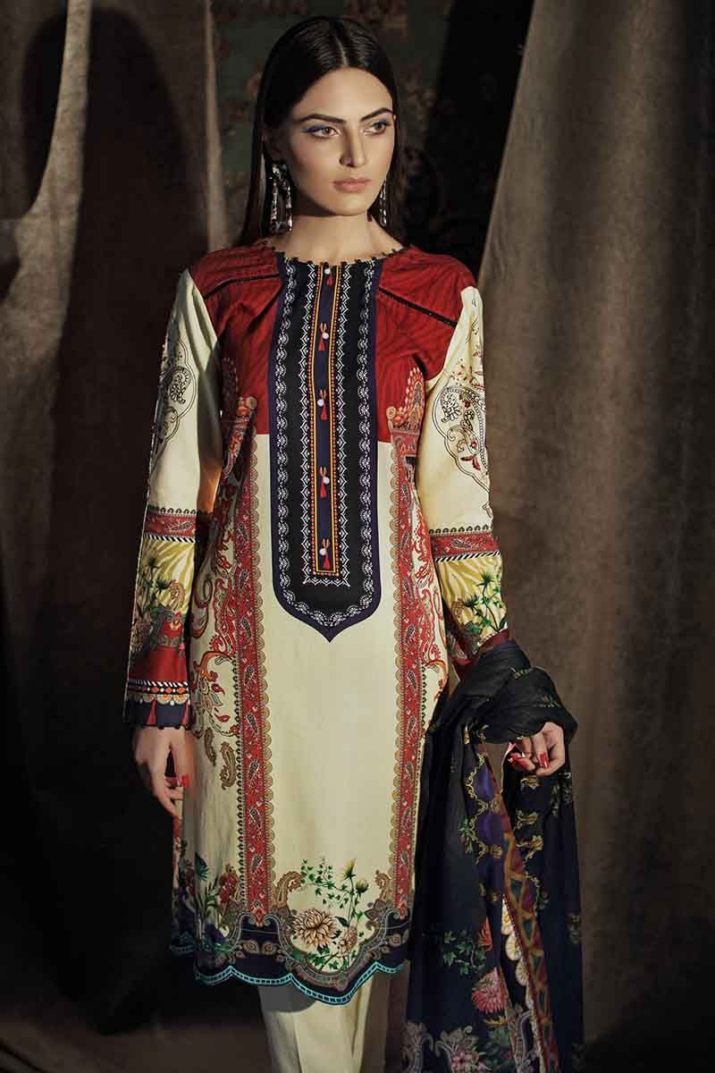 Gul Ahmed Winter Collection 2019 Suit Off White CD-24