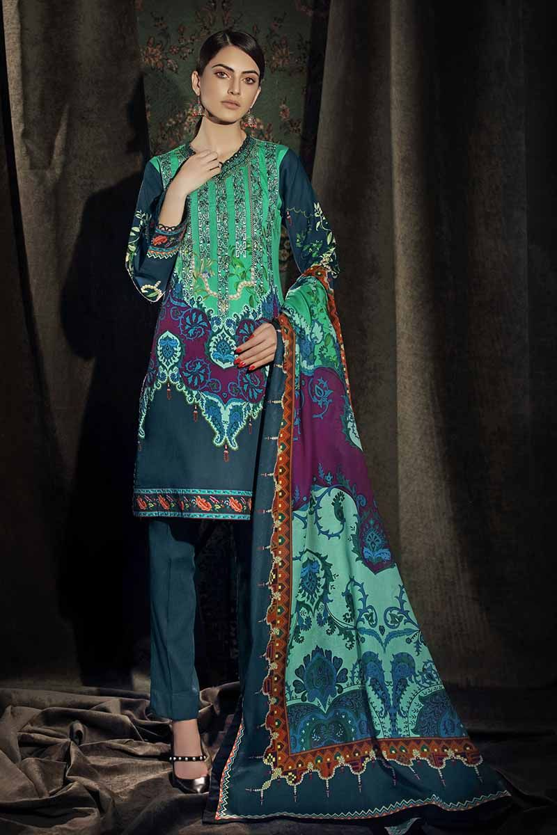 Gul Ahmed Winter 2019 Suit Teal CD-27