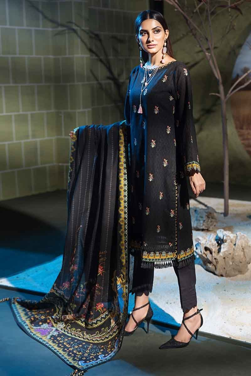 Gul Ahmed Winter Collection 2019 Brown K-51