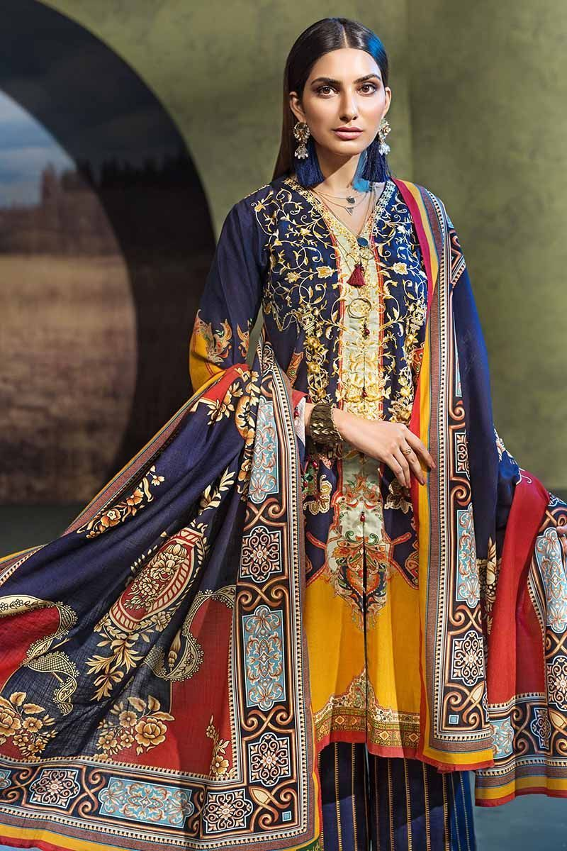 Gul Ahmed Winter 2019 Suit Navy K-54