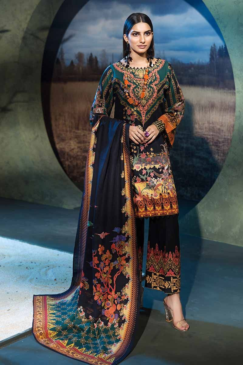 Gul Ahmed Winter 2019 Suit Black K-57