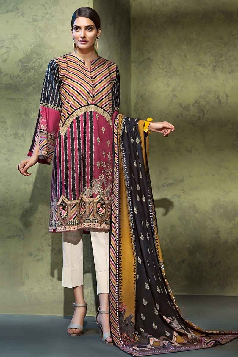 Gul Ahmed Winter 2019 Suit Pink K-77