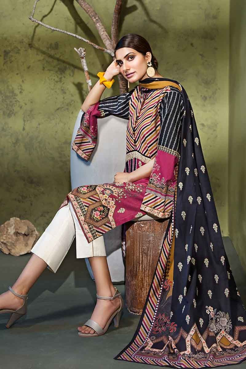 Gul Ahmed Winter Collection 2019 Suit K-77