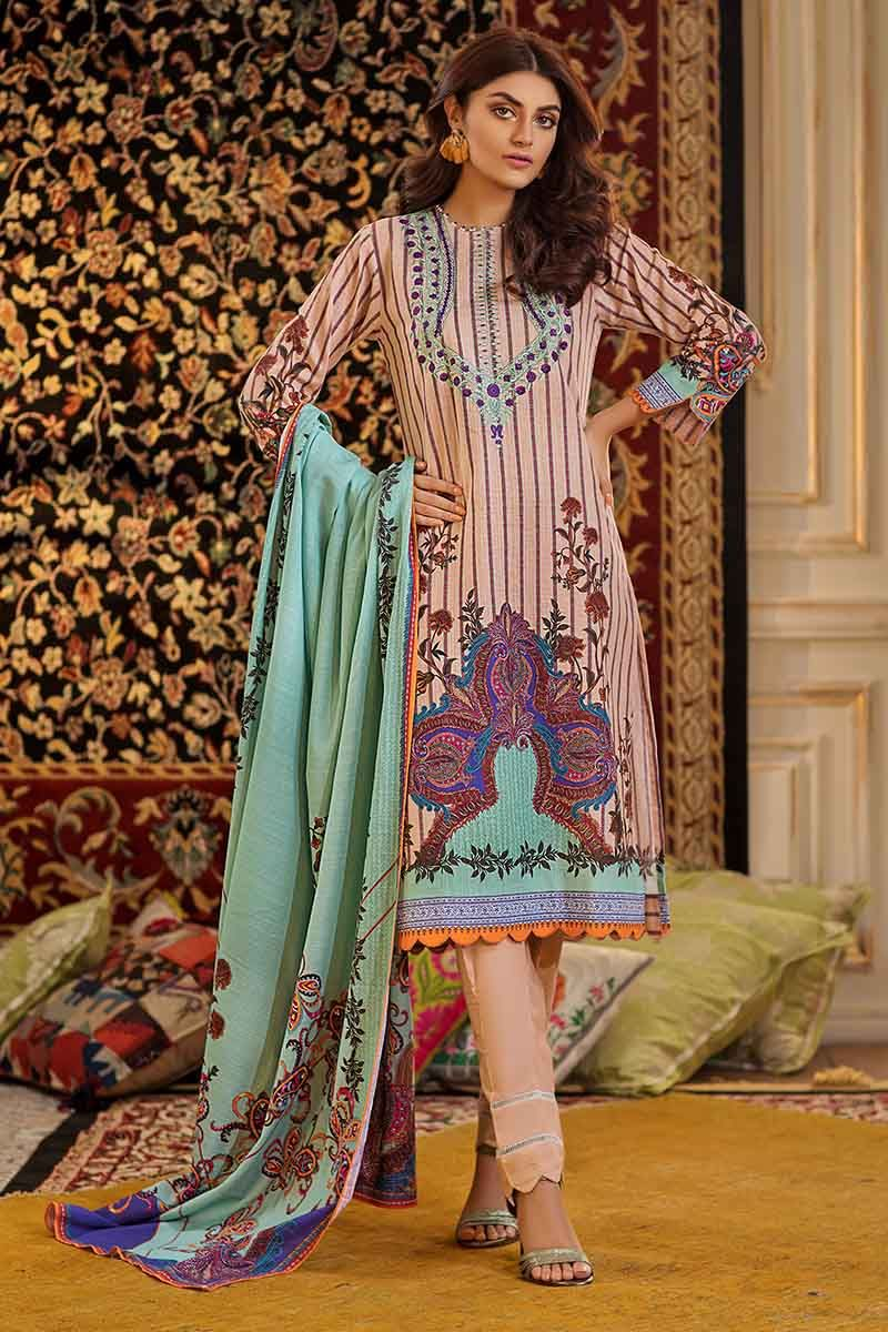 Gul Ahmed Winter Collection 2019 Light Peach TK-24