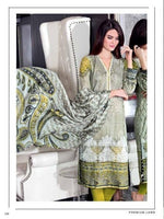 Gul Ahmed Premium Lawn Grey suit SS-101