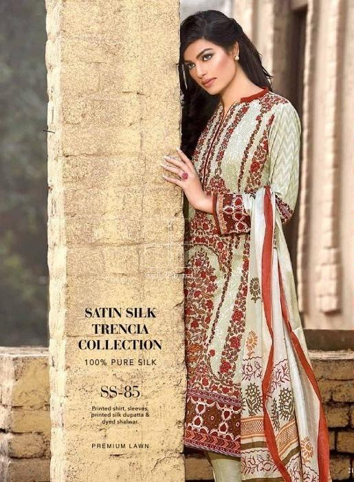 Gul Ahmed Lawn Cream suit SS-85