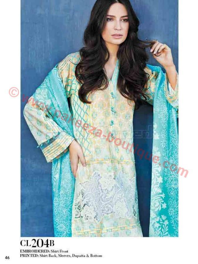 Gul Ahmed Essential Summer 2017 suit CL-204B
