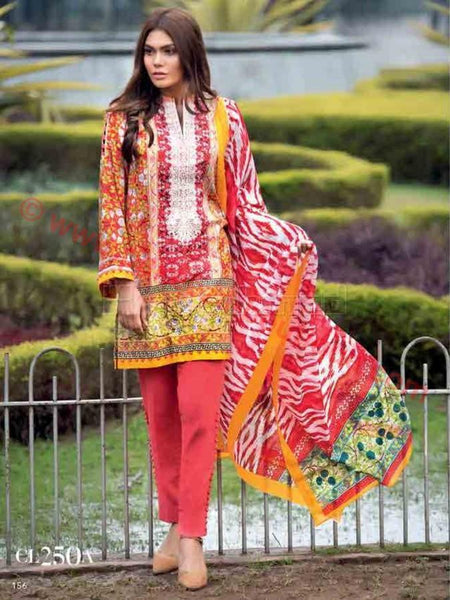 Gul Ahmed Essential Summer 2017 suit CL-250A