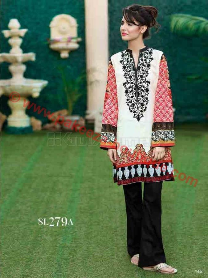 Gul Ahmed Essential Summer 2017 suit SL-279A