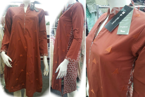 Gul Ahmed Stitched Digital Kurti SL-PK17