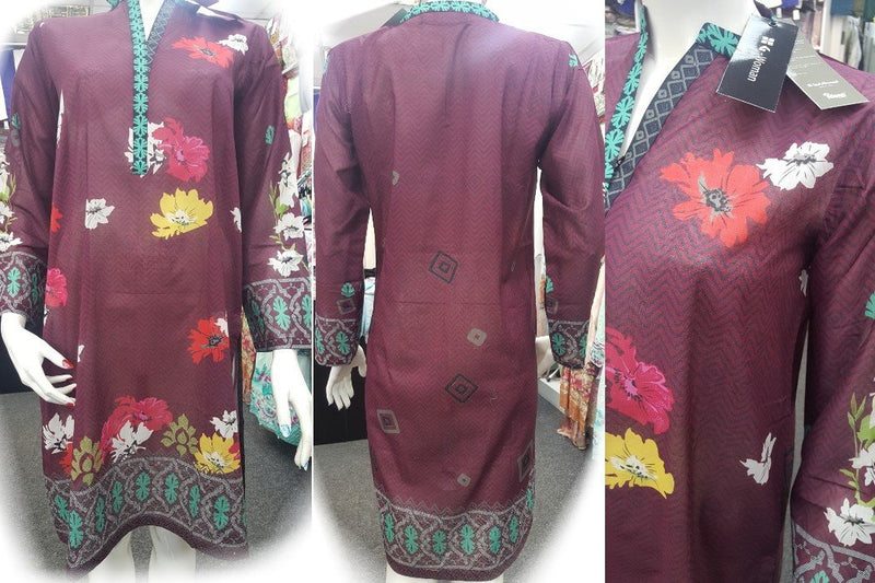 Gul Ahmed Stitched Digital Kurti SL-PK25