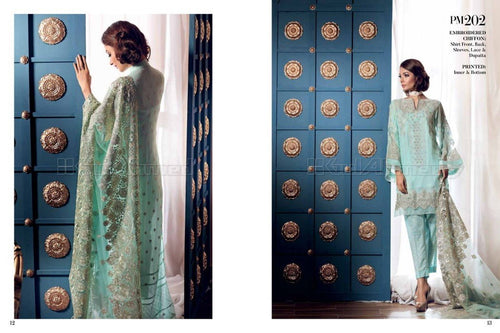 Gul Ahmed Embroidered Chiffon suit PM202
