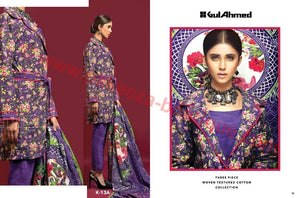 Gul Ahmed Winter 2016 Vol1 suit K-13A