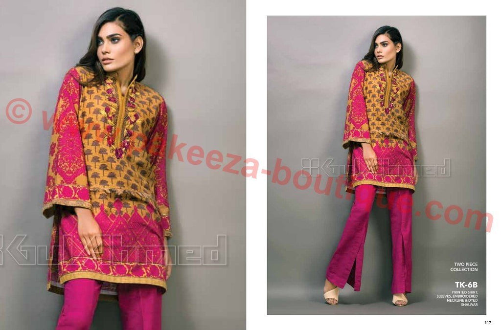 Gul Ahmed Winter 2016 Vol1 suit TK-6B