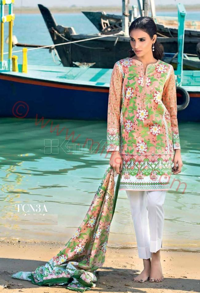 Gul Ahmed Pre-Fall suit TCN-3A