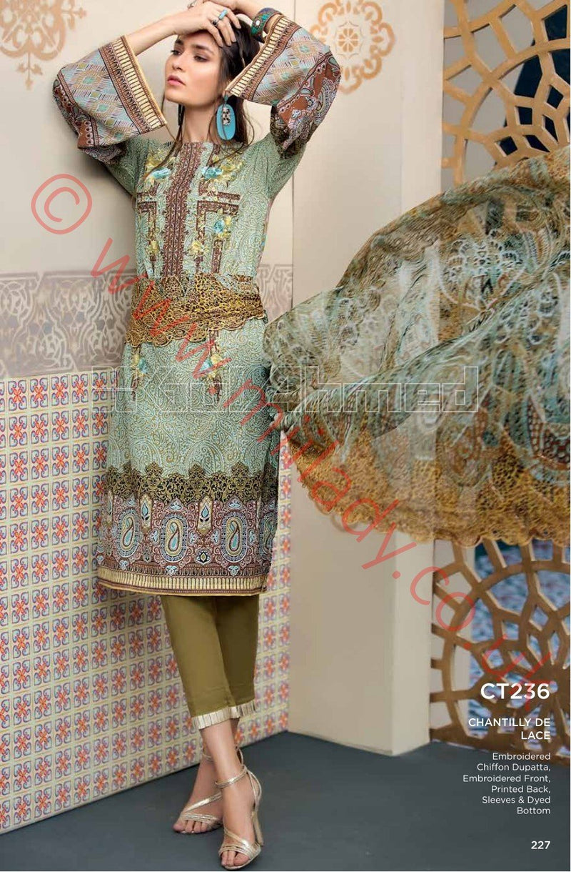 Gul Ahmed Premium Summer 2018 suit CT236