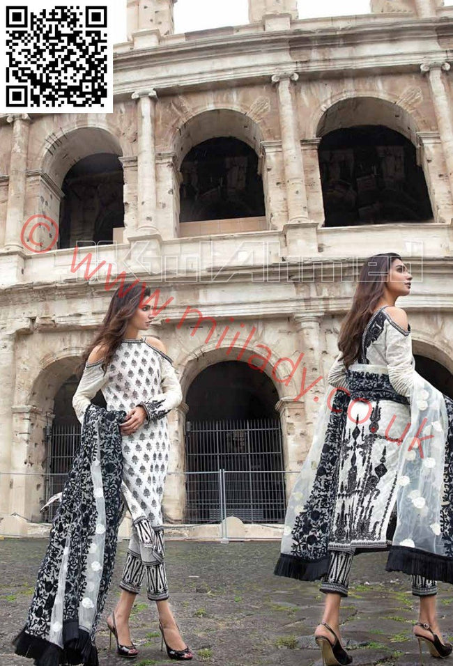 Gul Ahmed Summer 2018 suit PM238 with Net dupatta