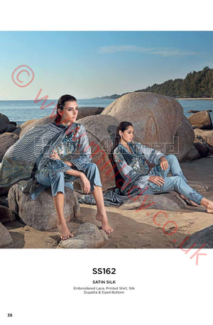 Gul Ahmed Premium Summer 2018 suit SS162