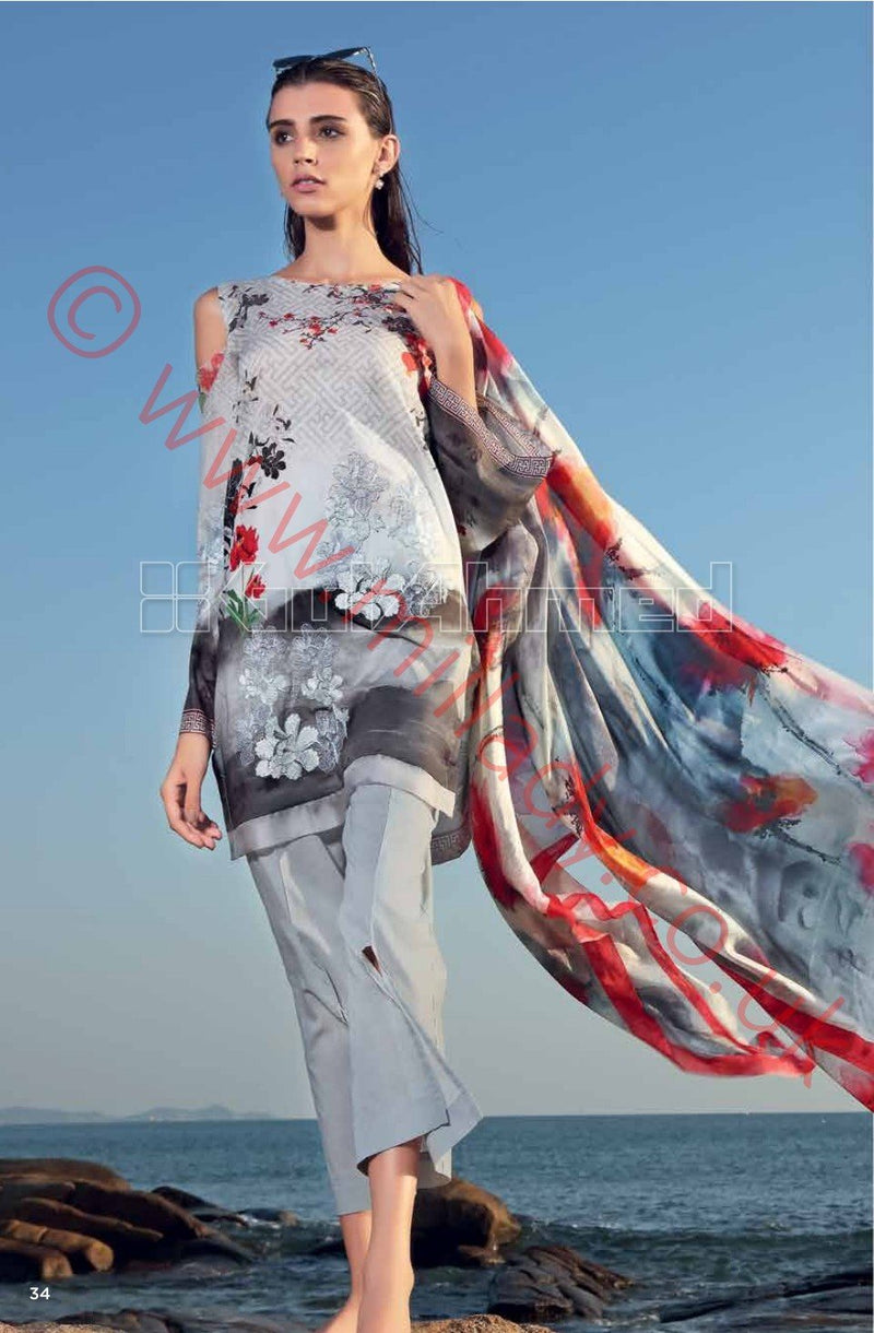 Gul Ahmed Premium Summer 2018 suit SS168