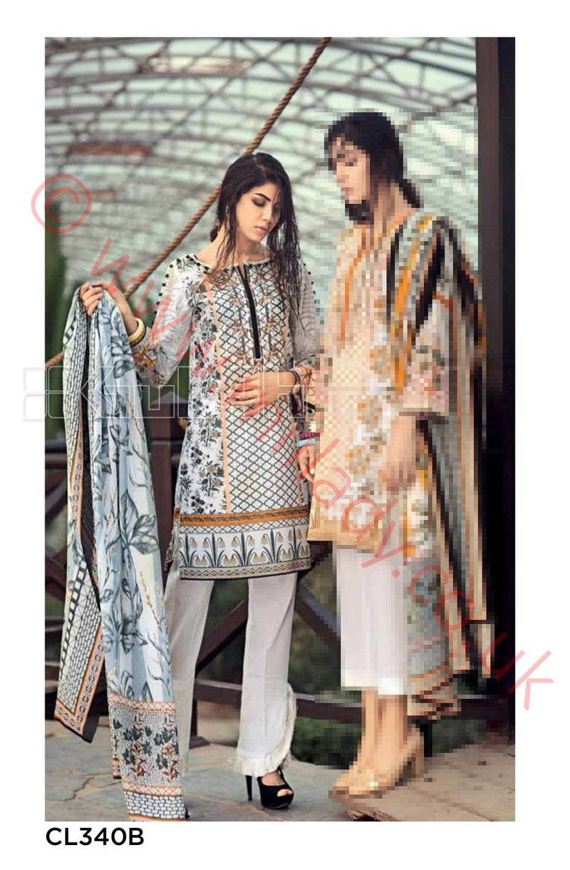 Gul Ahmed Essential Summer 2018 suit CL340B