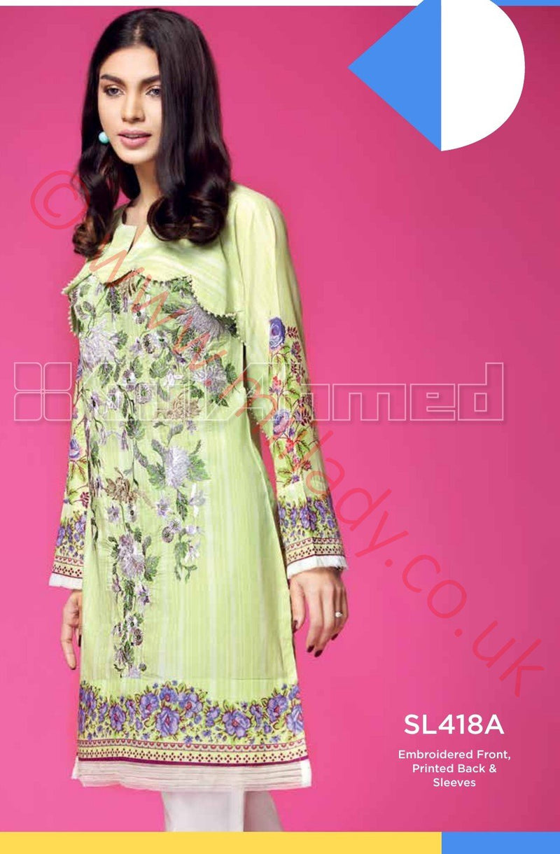Gul Ahmed Essential Summer 2018 suit SL418A