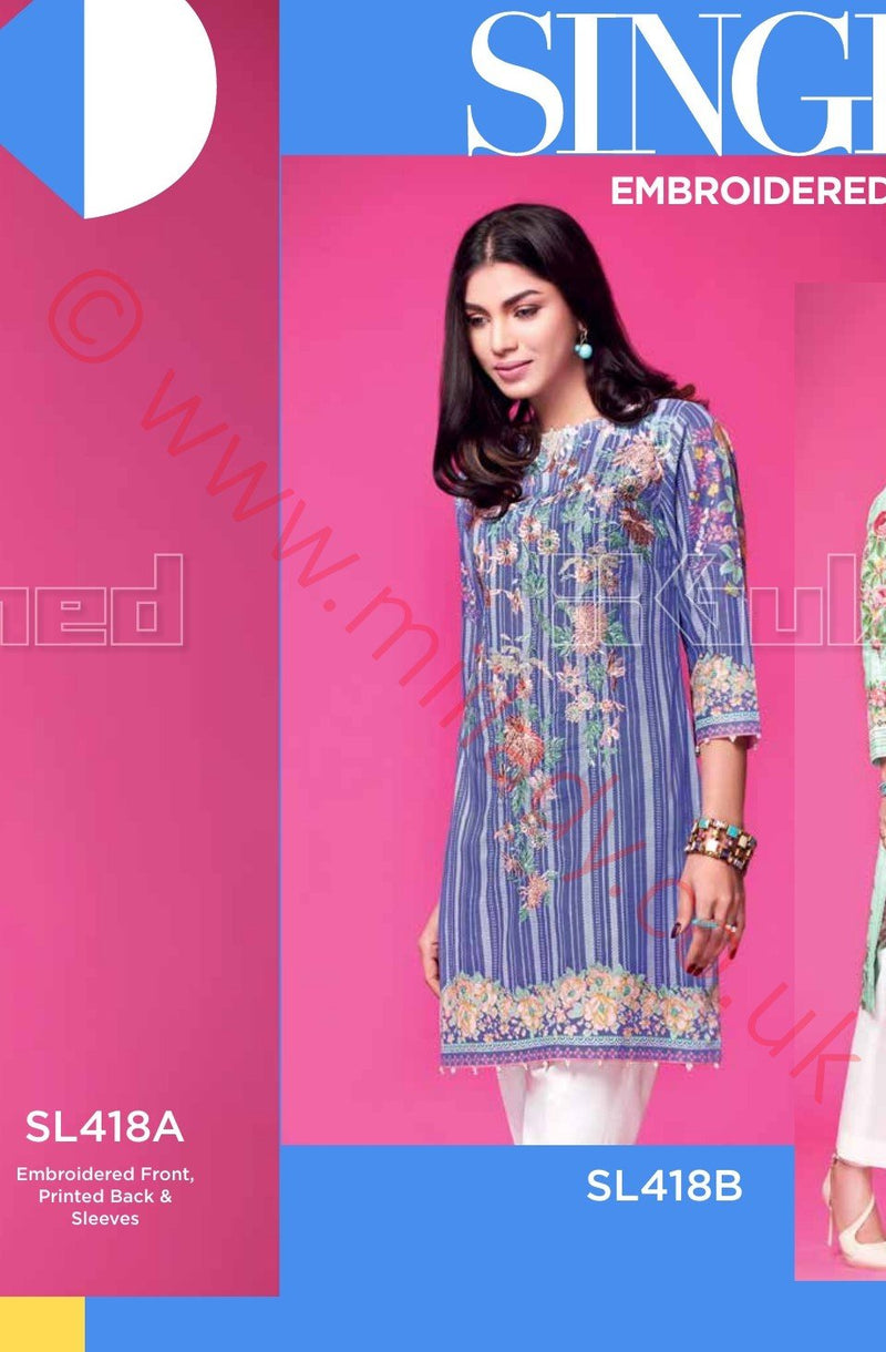 Gul Ahmed Essential Summer 2018 suit SL418B