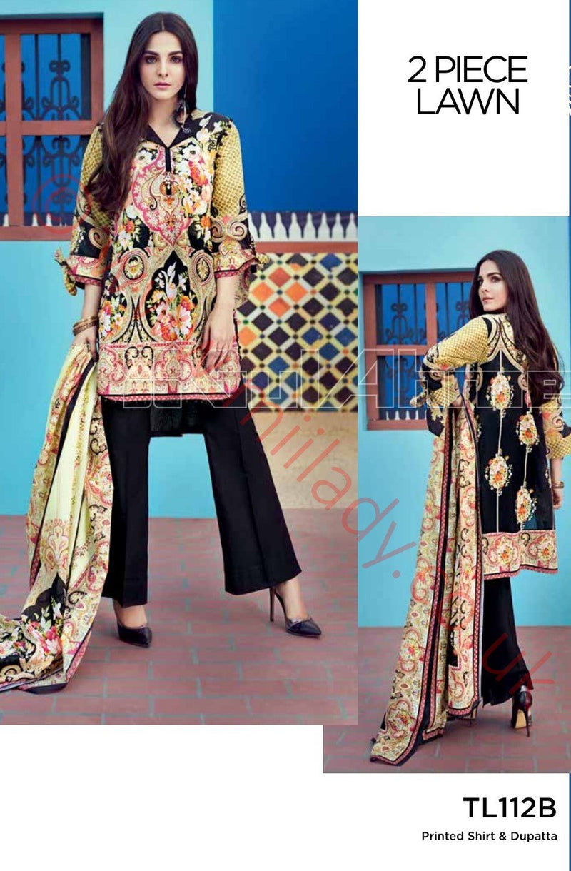 Gul Ahmed Essential Summer 2018 suit TL112B