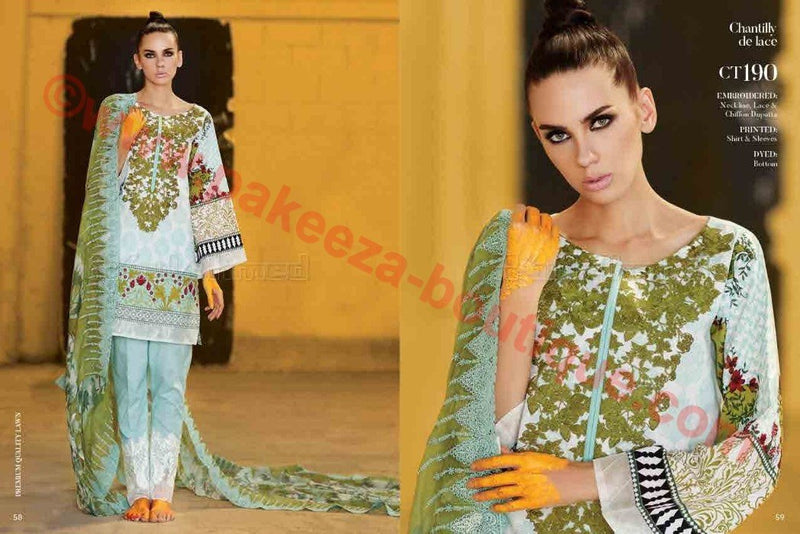 Gul Ahmed Summer Premium Lawn 2017 suit CT-190