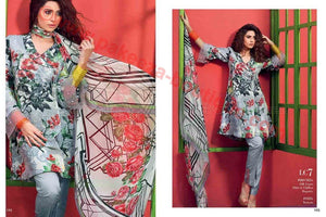 Gul Ahmed Summer Premium Lawn 2017 suit LC-07
