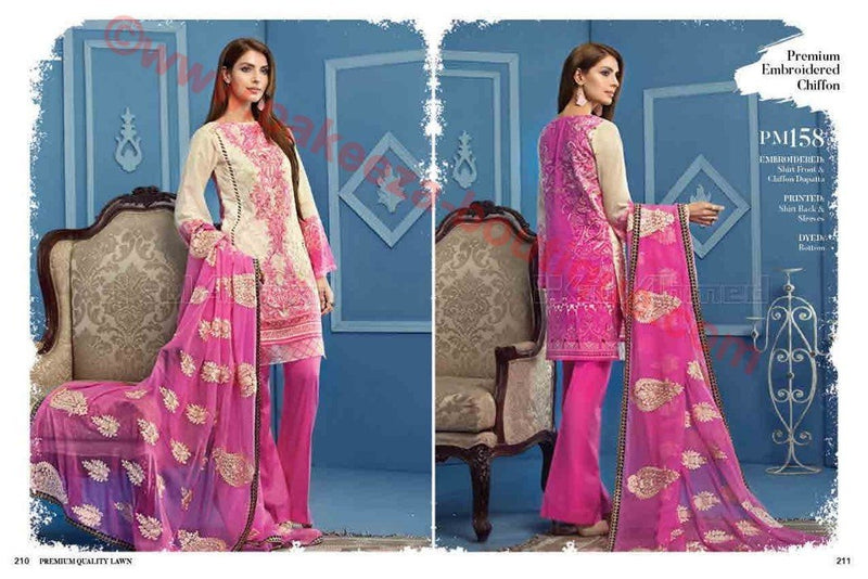 Gul Ahmed Summer Premium Lawn 2017 suit PM-158