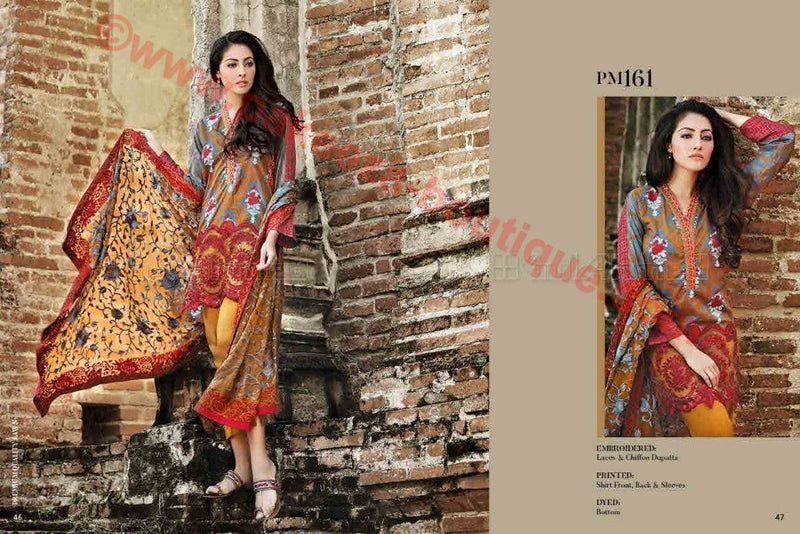 Gul Ahmed Summer Premium Lawn 2017 suit PM-161
